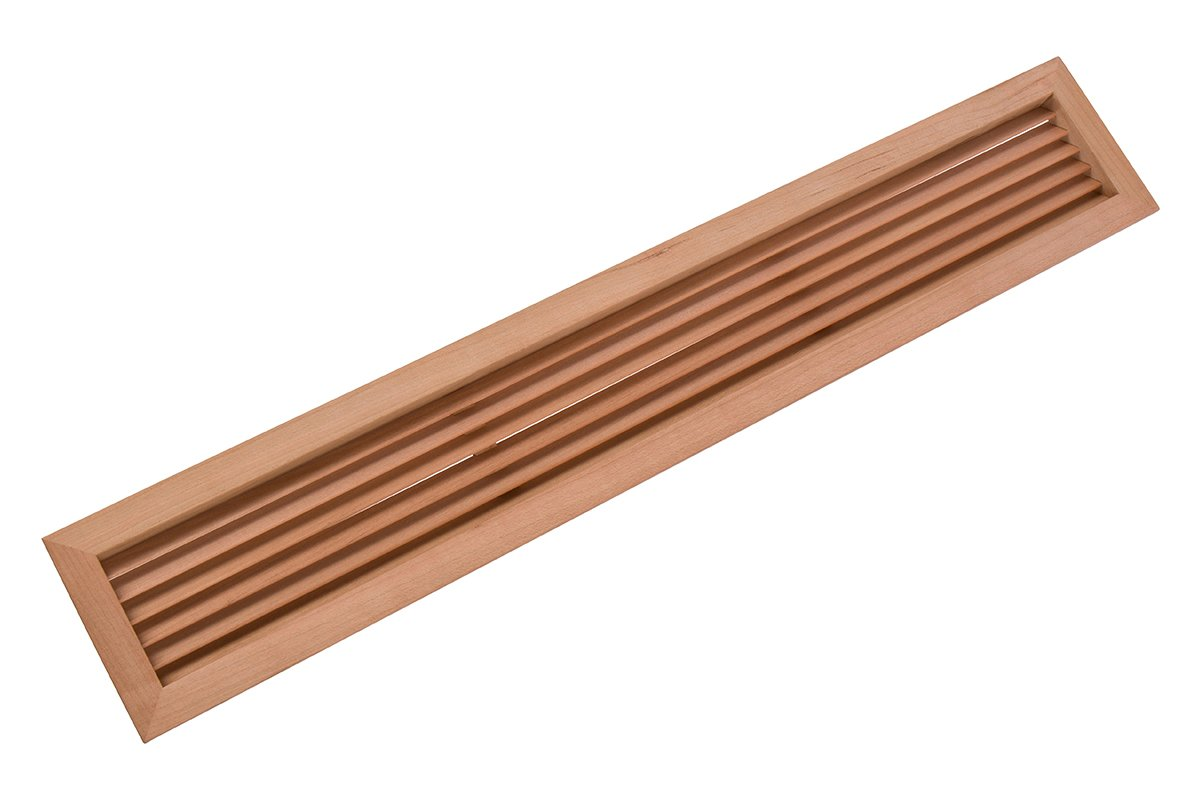 """19-15/16"""" Rectangular Wood Air Vent Grille (Cherry) - 50% OFF"""