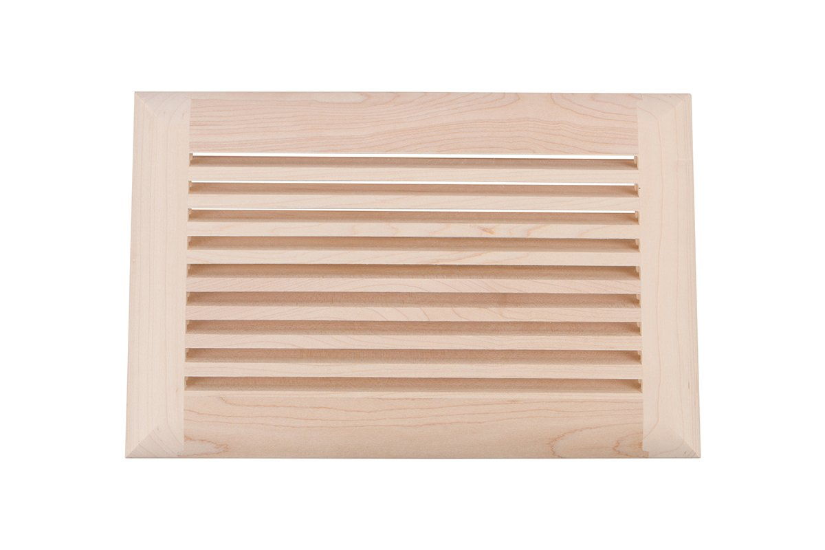 "6"" x 10"" Wood Air Vent Grille (Maple)"