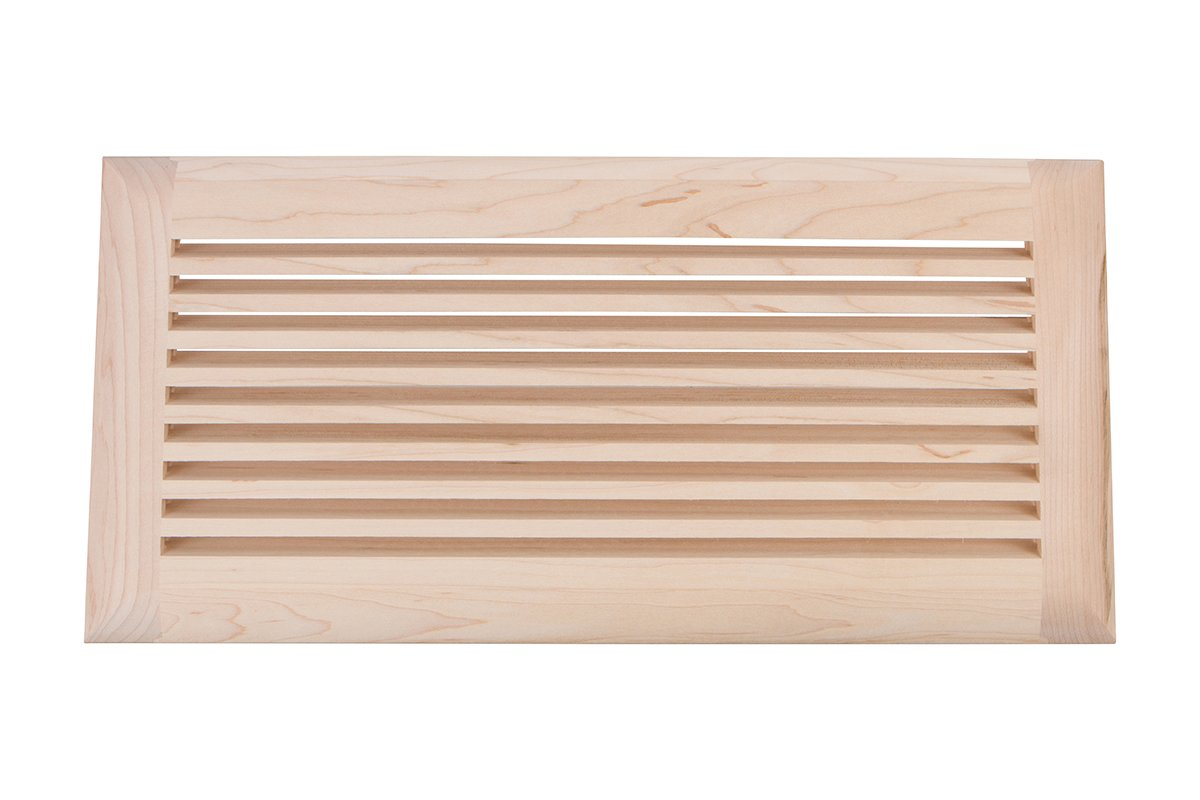"""6"""" x 14"""" Wood Air Vent Grille (Maple)"""