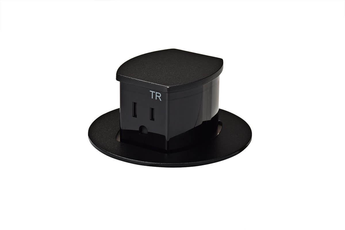 PCS103B/EE-90 (Black) mockett desktop power grommet outlet