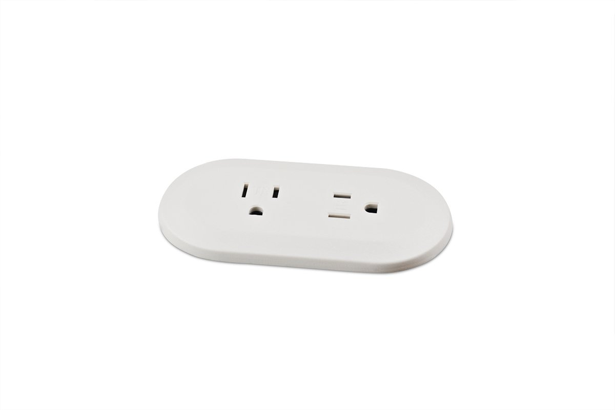 PCS111A-95 (White) mockett desktop power grommet outlet