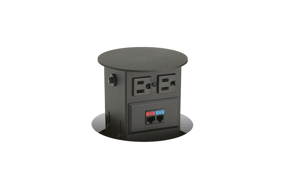 PCS19/R-90 mockett pop-up electrical outlet power grommet data