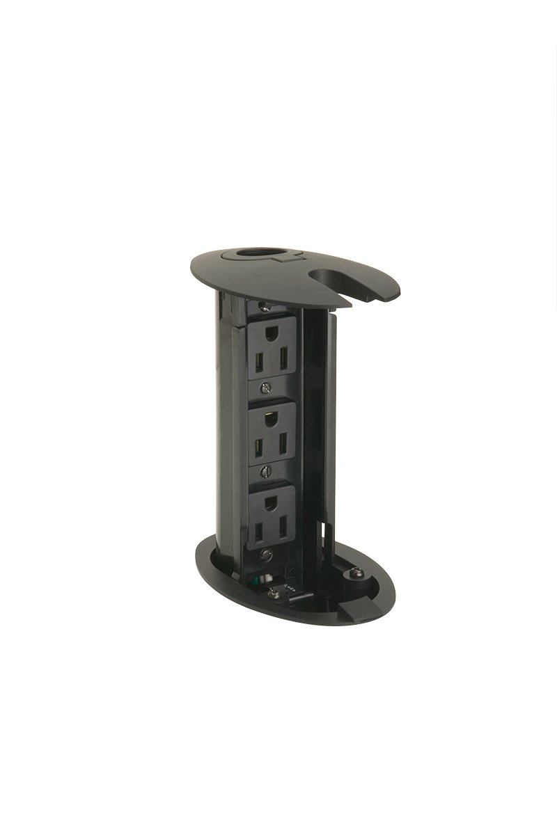 PCS27A-90 (Matte Black) mockett pop-up electrical outlet power grommet