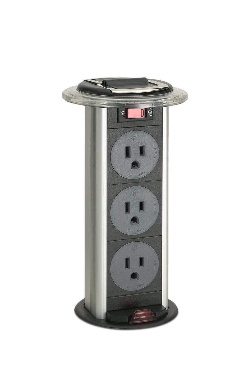 Kitchen Power Grommet Countertop Outlets - 3 Power