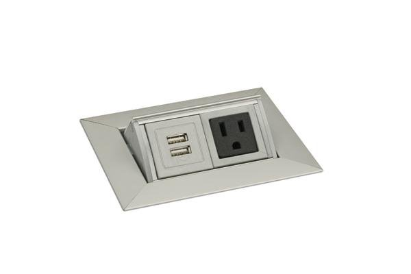 pcs36a-usb-94 mockett pop-up electrical outlet power grommet