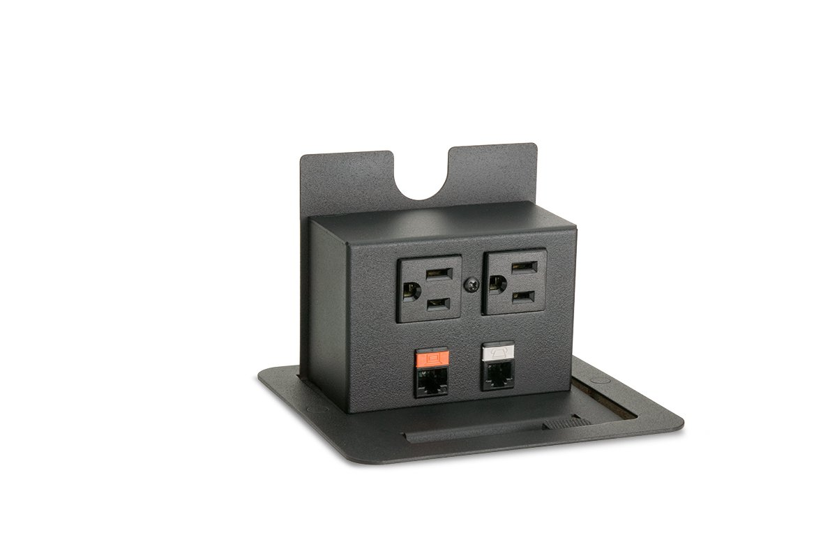 PCS4-90 (Matte Black) mockett pop-up electrical outlet power grommet