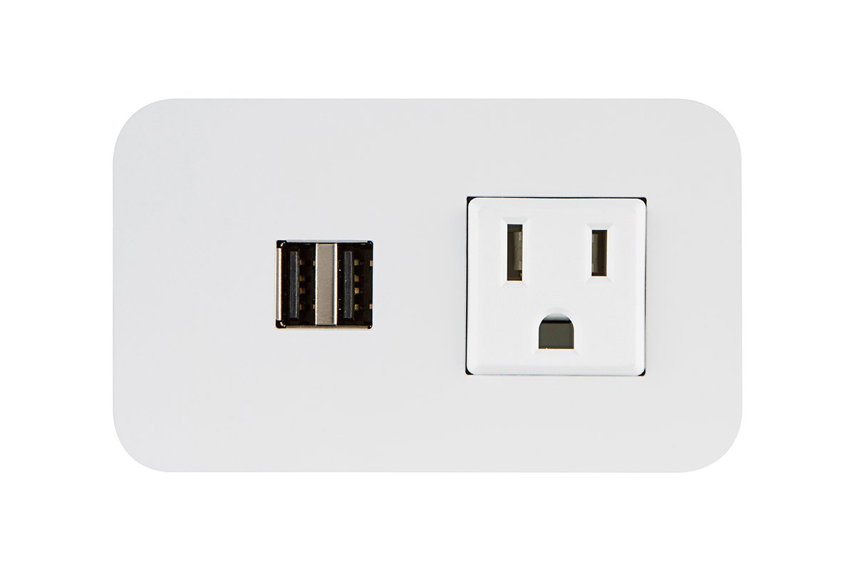 PCS62M/UE-95 (White) mockett desktop power grommet outlet usb