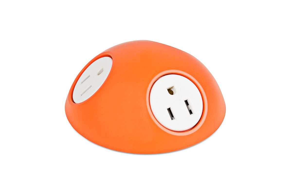 PCS74-53 (Orange) mockett desktop power grommet outlet
