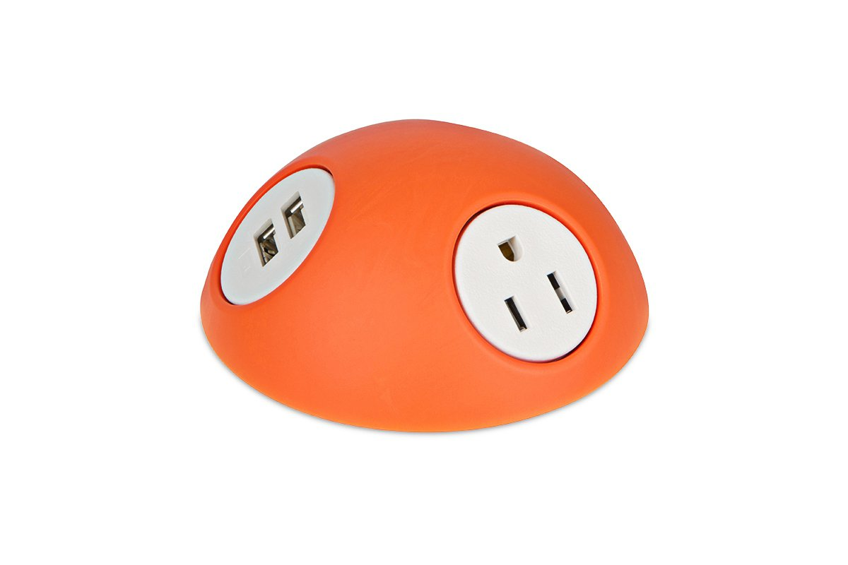 PCS74/USB-53 (Orange) mockett desktop power grommet outlet usb