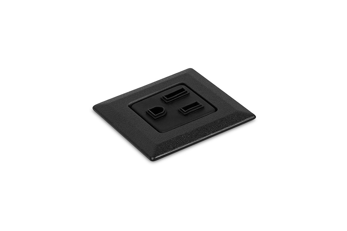 PCS75/SQ-90 (Black) mockett desktop power grommet outlet