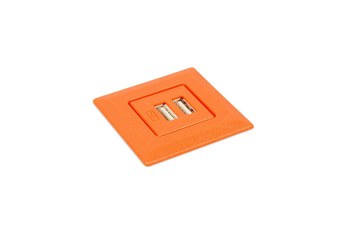 PCS75SQ/USB-53 (Orange) mockett desktop power grommet outlet usb