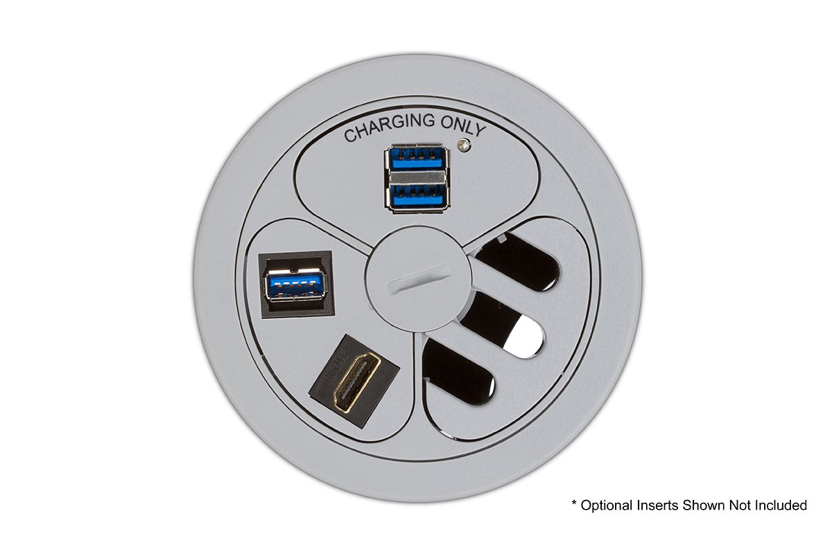 PCS78/USB/A-92 (Grey) mockett desktop power grommet outlet usb