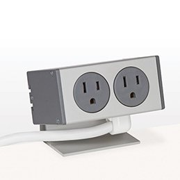 PCS80A/EE-92 (Grey) desk mount electrical outlet edge mount power