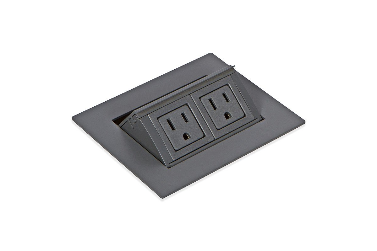 PCS82A/EE-92M (Matte Gray) mockett pop-up electrical outlet power grommet