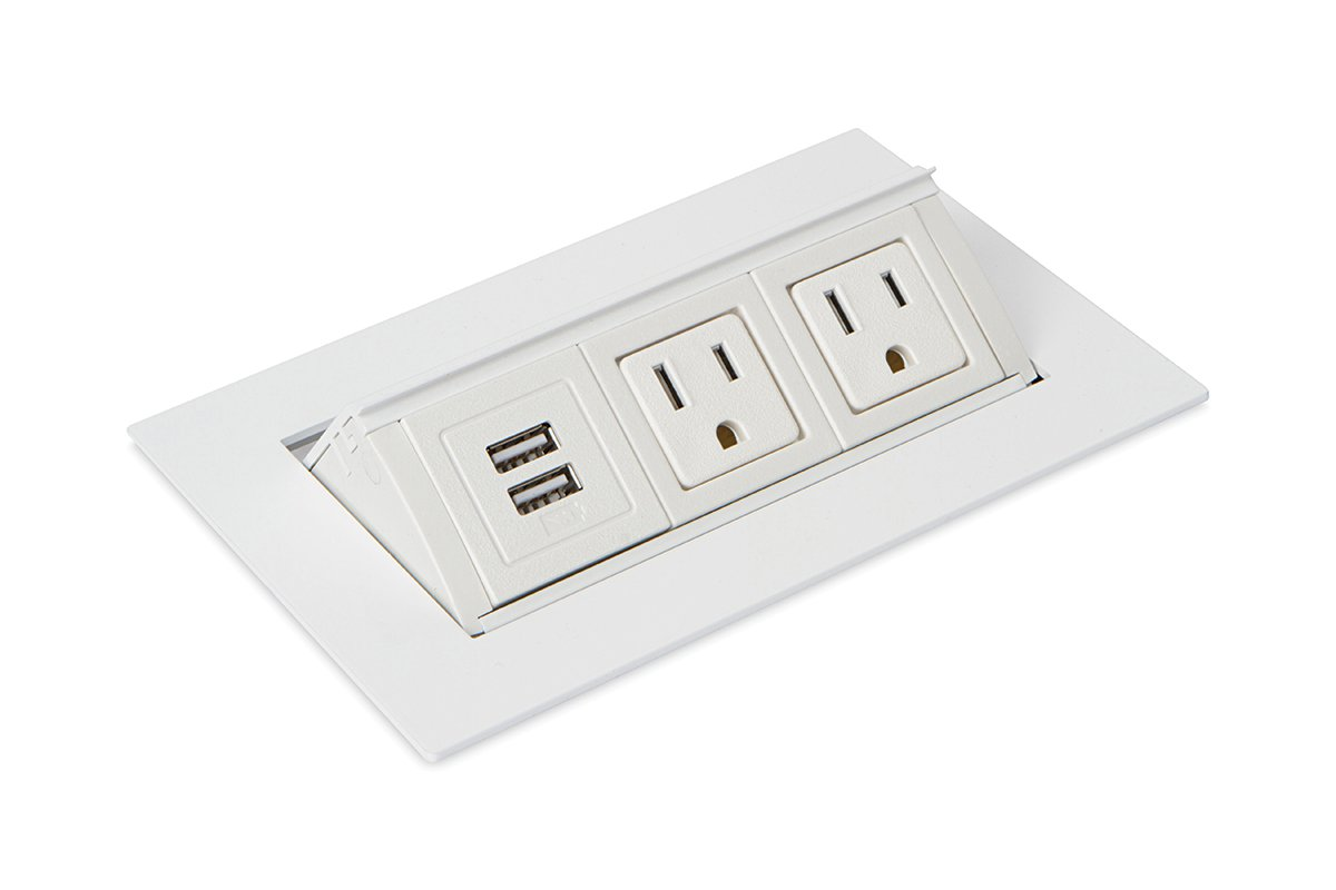 PCS82B/U1-95 (White) mockett pop-up electrical outlet power grommet usb