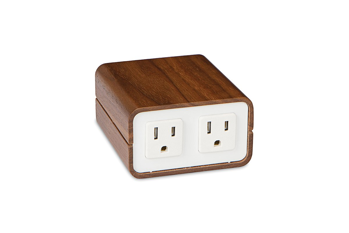 PCS83/EE-82/95 (Walnut/White) mockett power outlet desktop grommet