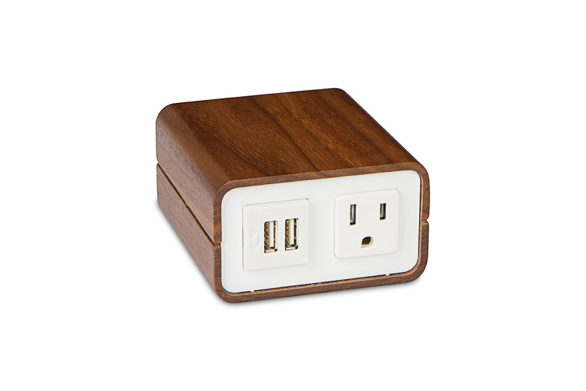 PCS83/USB-82/95 (Walnut/White) mockett power outlet desktop grommet usb