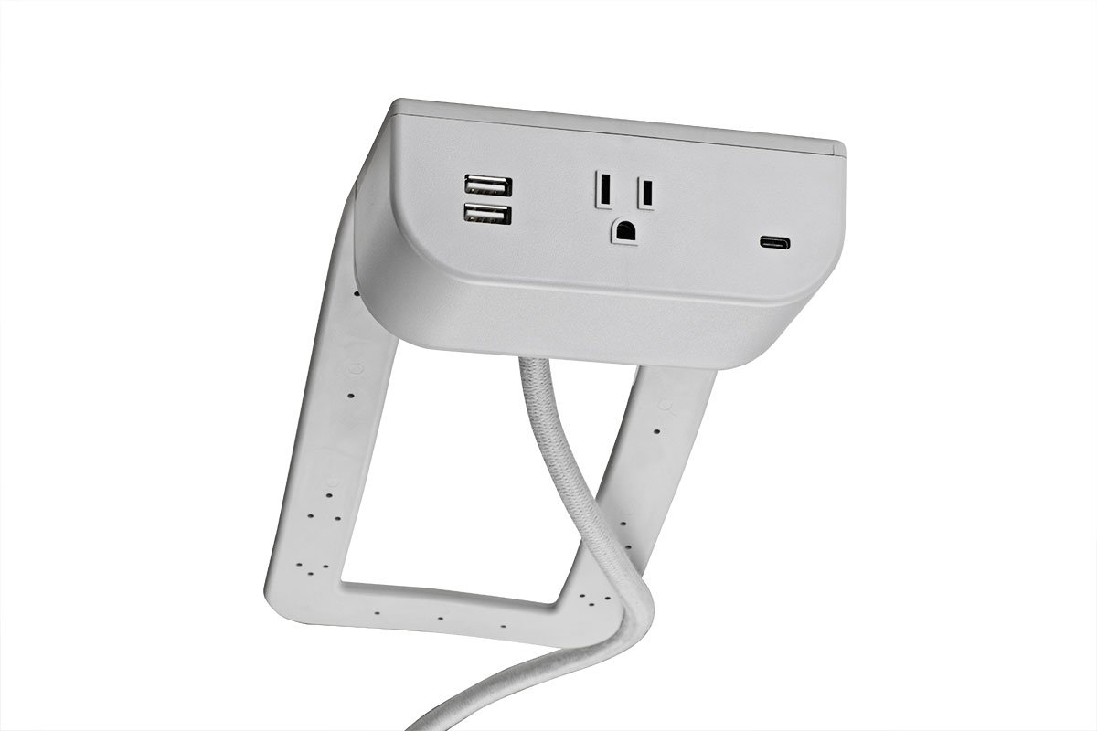 PCS95-92L (Light Grey) mockett power grommet usb charger