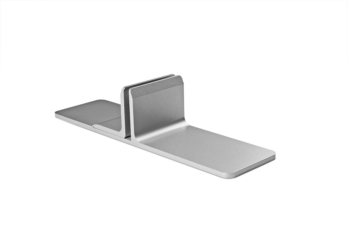 PGRP11-94 (Satin Aluminum) Mockett Privacy Panel Grip Panel Bracket Divider