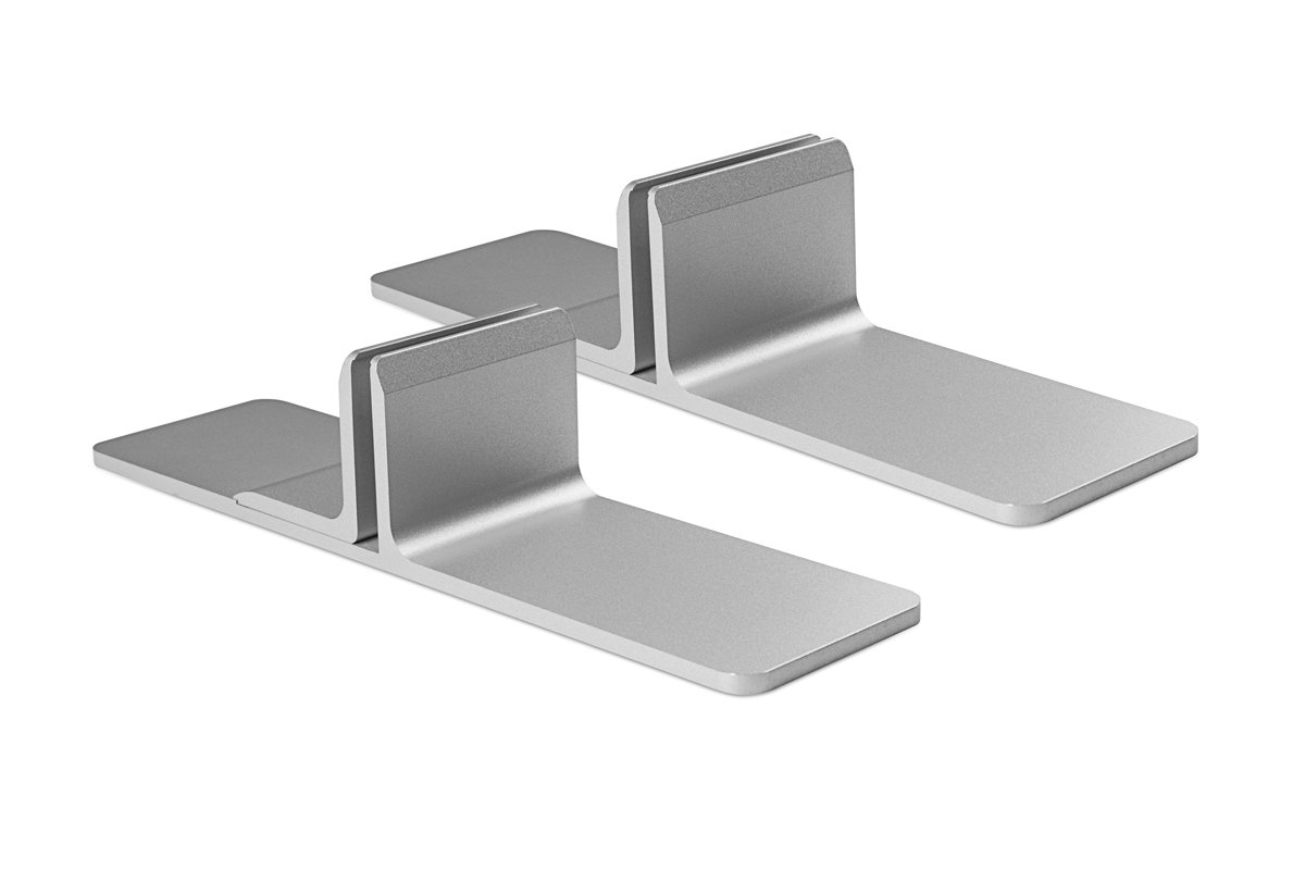 PGRP11-23 (Metallic Silver) Mockett Privacy Panel Grip Panel Bracket Divider