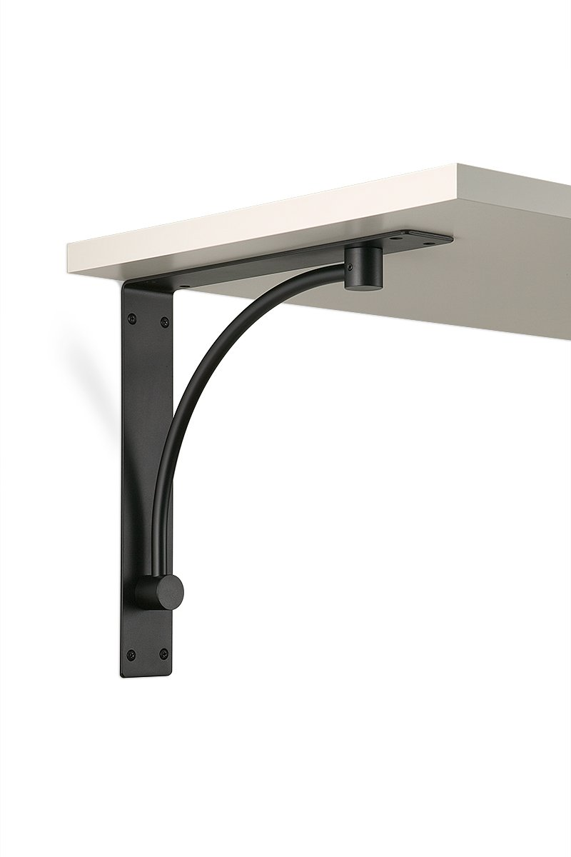 SWS3-90 (Matte Black)) Mockett Shelves Shelf Brackets Decorative Shelf Supports Countertop Supports
