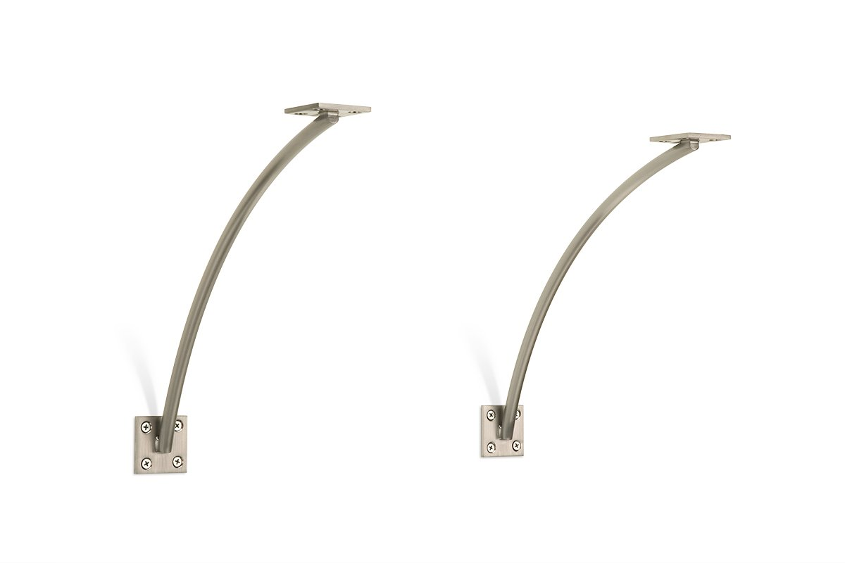 SWS6A-SSS (Satin Stainless Steel)) Mockett Shelves Shelf Brackets Decorative Shelf Supports Countertop Supports