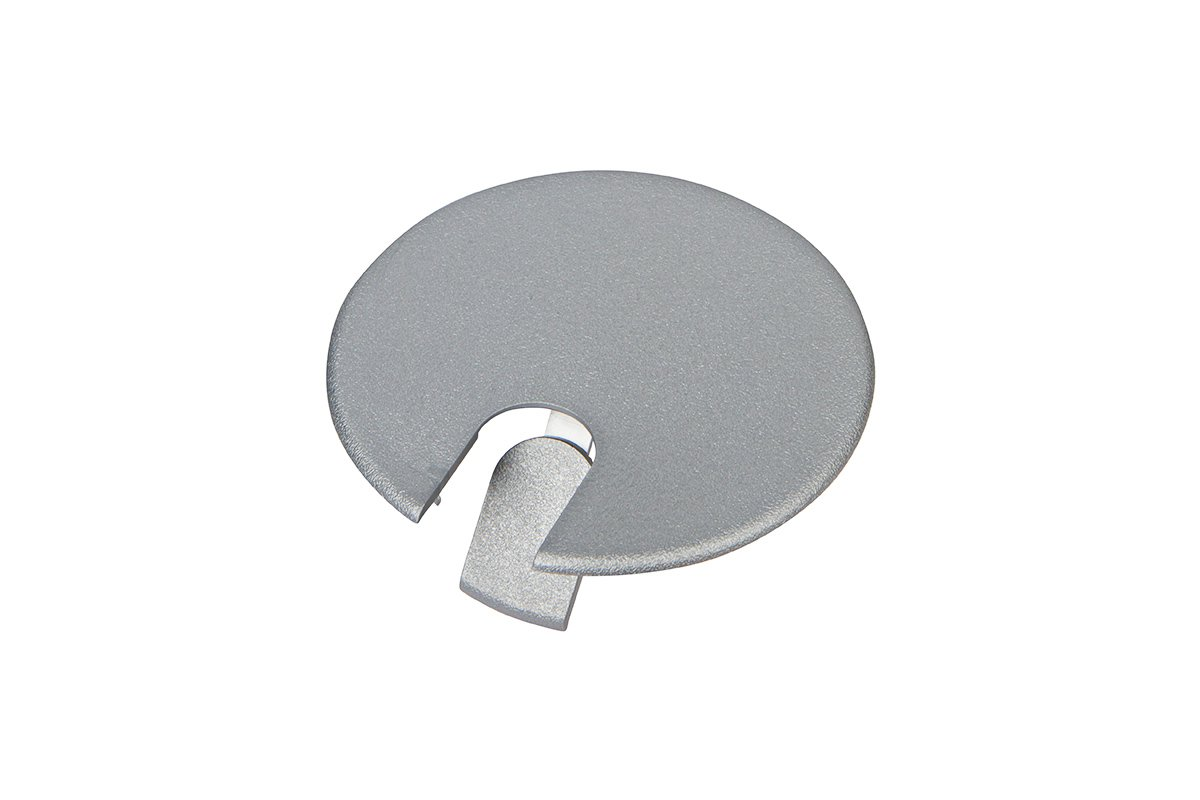 YG2-23 (Metallic Silver) Mockett Cable Management Desk Grommet