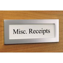 CF2-94 (Satin Aluminum) Mockett File Cabinet Label Card File Tag Holder