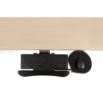 KP6/M2-90 (Matte Black) Mockett Keyboard Tray for Computer Desk