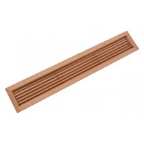 "19-15/16"" Rectangular Wood Air Vent Grille (Cherry) - 50% OFF"