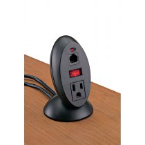 PCS29-90 (Matte Black) mockett power outlet desktop grommet