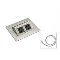 PCS36A/EE/HW-94 (Satin Aluminum) mockett-aluminum-power-and-data-grommet