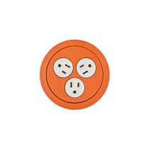 PCS73-53 (Orange) mockett desktop power grommet outlet