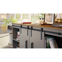 SDH4 Mockett Barn Door Hardware Sliding Door Track