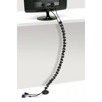WM14-90 (Matte Black) Mockett Desk Cable Management Wire Spine
