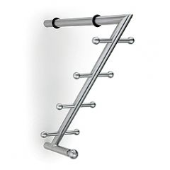 CH45-SSS (Satin Stainless) Mockett Shelf Support Coat Hooks Wall Hooks Coat Rack