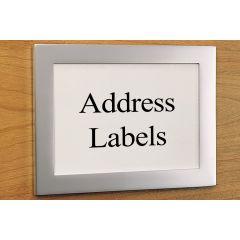 CF4-94 (Satin Aluminum) Mockett File Cabinet Label Card File Tag Holder