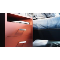 DP109 Mockett Drawer Pull Cabinet Hardware Handle Aluminum