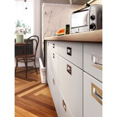 DP156-SSS (Satin Stainless Steel) Mockett Drawer Pull Cabinet Hardware Recessed Handle
