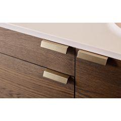 DP269B-4B (Brushed Brass) Mockett Edge Drawer Pull Cabinet Hardware Handle