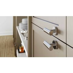 DP279-17 (Nickel) Mockett Drawer Pull Cabinet Hardware Handle Pull