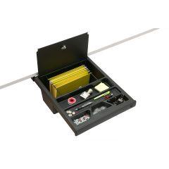 DWR1/WL-90 (Matte Black) Mockett Storage Drawer Organizer for Desk with Lock