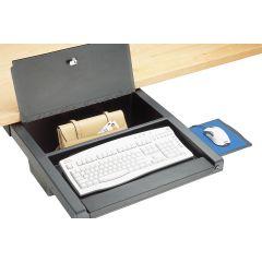 DWR2/WL-90 (Matte Black) Mockett Storage Drawer Organizer for Desk with Lock