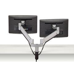 FSA3/2-23 (Metallic Silver) - Monitors not included Mockett Computer Monitor Stand for Desk Monitor Arm