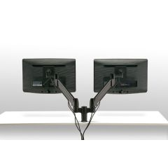FSA1/2H (Matte Black) Mockett Dual Monitor Stand Computer Monitor Stand for Desk Monitor Arm
