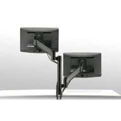 FSA1/2V-90 (Matte Black) Mockett Dual Monitor Stand Computer Monitor Stand for Desk Monitor Arm