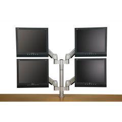 FSA1/4V-23 (Metallic Silver) Mockett Computer Monitor Stand for Desk Monitor Arm