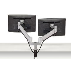 FSA6/2-23 (Metallic Silver) - Monitors not included Mockett Computer Monitor Stand for Desk Monitor Arm