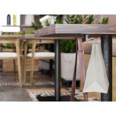 HK20V-SSS (Satin Stainless Steel) Mockett Purse Hook Purse Hanger for Table