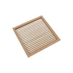 "9-15/16"" Square Wood Air Vent Grille (Oak) - 50% OFF"